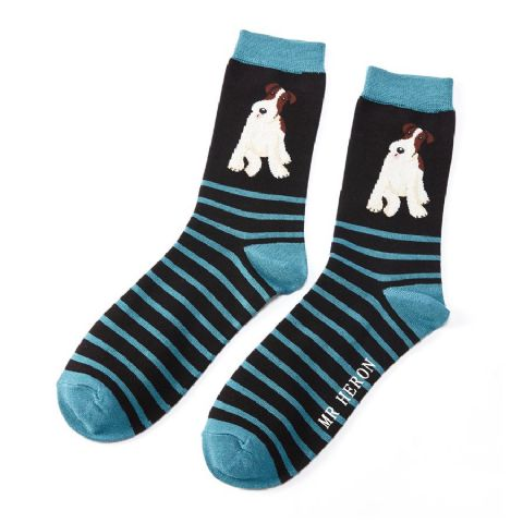 MENS DOG SOCKS BLACK